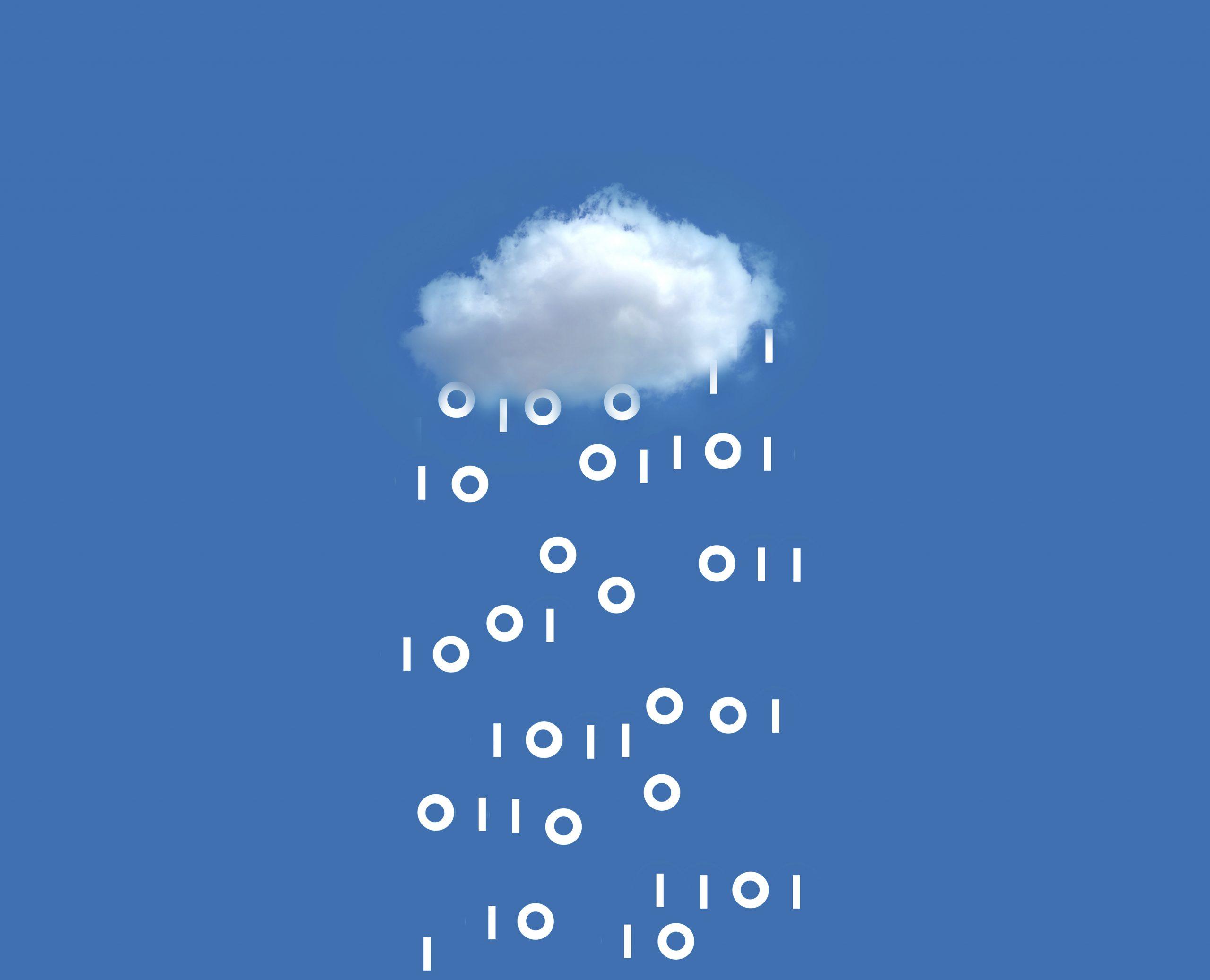 Wolke mit Daten Illustration für Hybrid Cloud