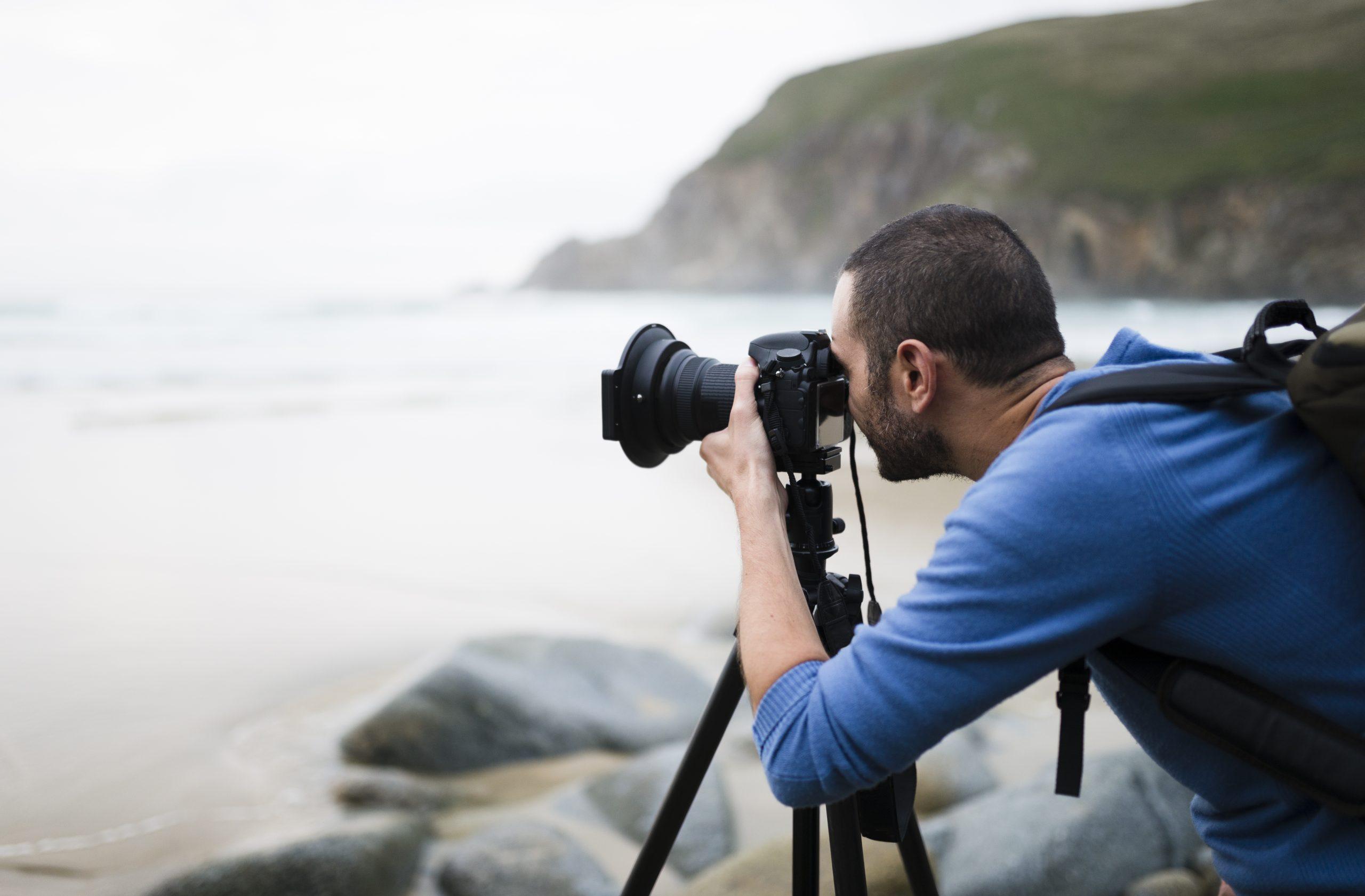 Fotograf mit Kamera für APA-Fotoservice