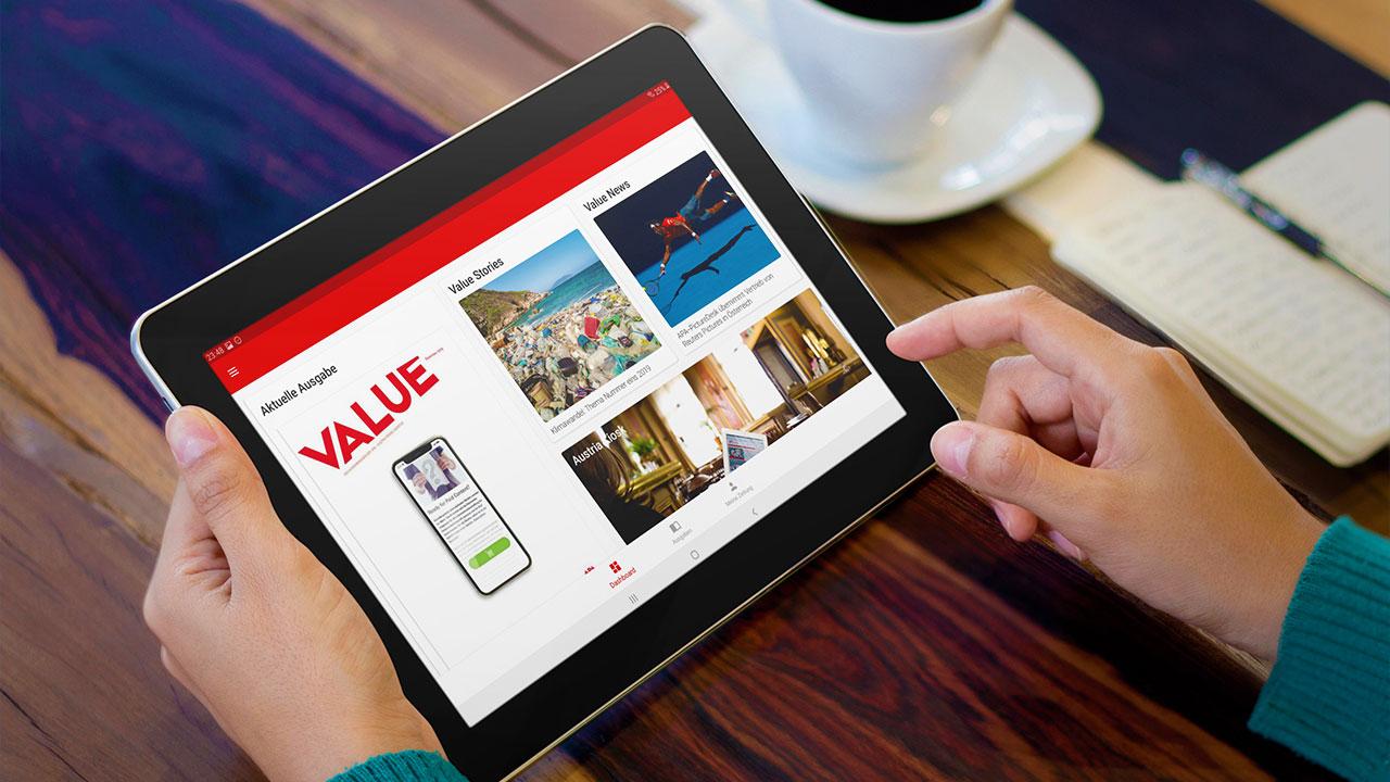 Mobile Publishing Suite (MPS) auf Tablet