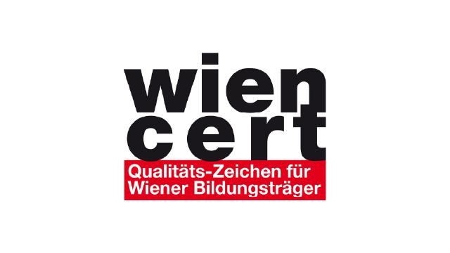 Logo wien cert, Qualitätszeichen für Wiener Bildungsträger
