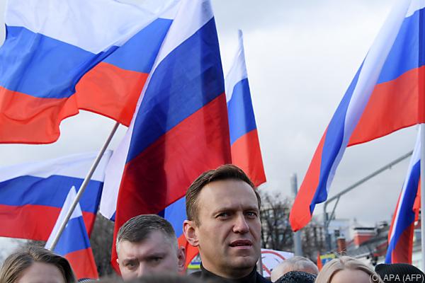 Auf dem Bild sieht man den russischen Politiker Alexej Nawalny.