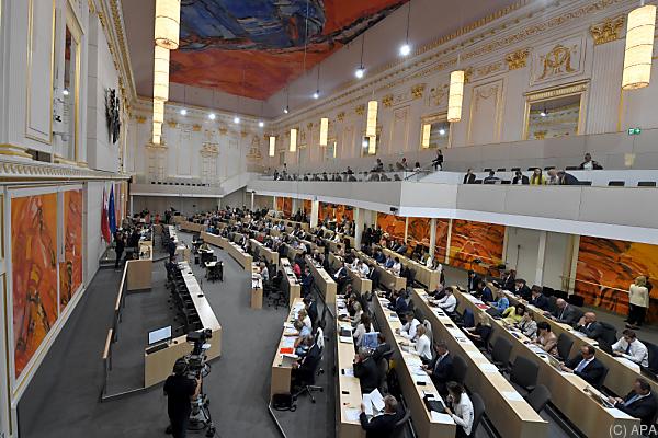 Auf dem Foto sieht man die Abgeordneten im Nationalrat.