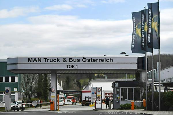 Auf dem Foto sieht man das MAN-Werk in Steyr von außen.